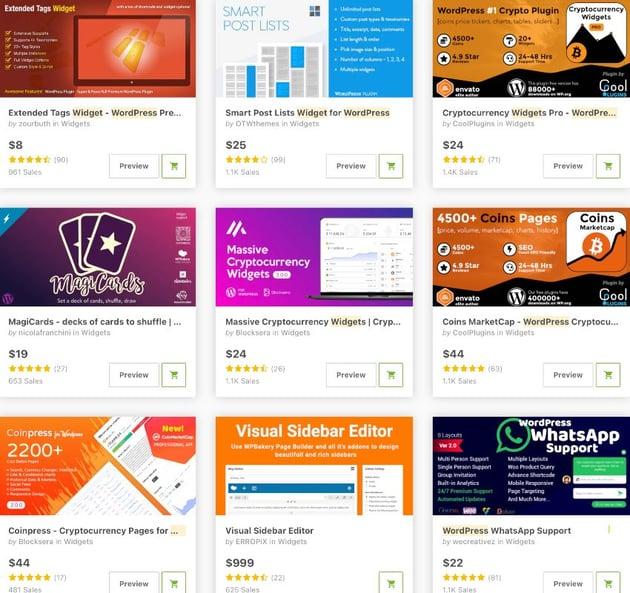 topselling widget plugins for wordpress
