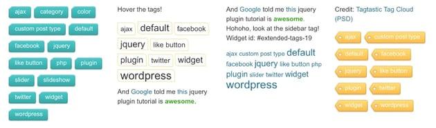 Extended Tags Widget - WordPress Premium Plugin