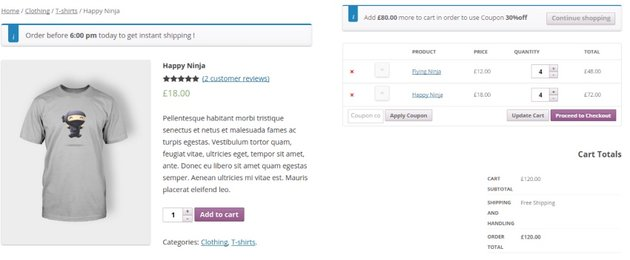 Woocommerce Dynamic Cart Notices