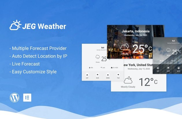 Jeg Weather Forecast Elements - Add Ons for Elementor & WPBakery Page Builder
