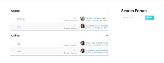Forym - Moderno foro de discusión para WordPress