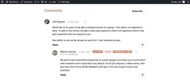 Peerboard - Plugin de foro y comunidad online