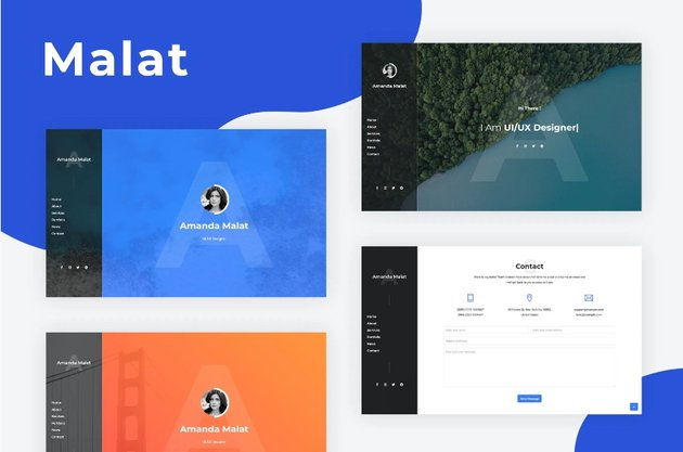 Malat - Bootstrap Personal Resume Template