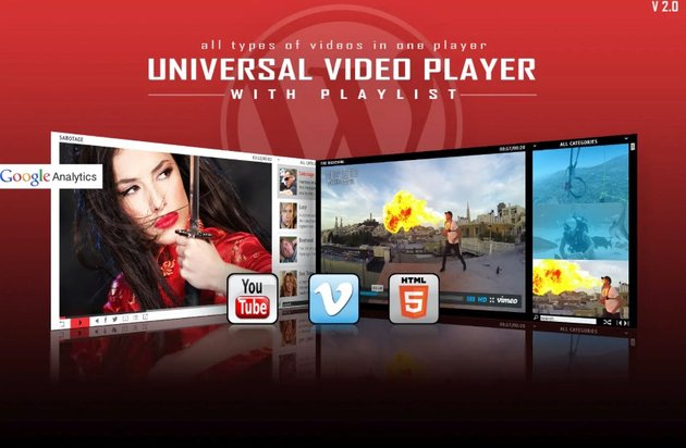 Universal Video Player - Plugin reproductor de vídeo para WordPress
