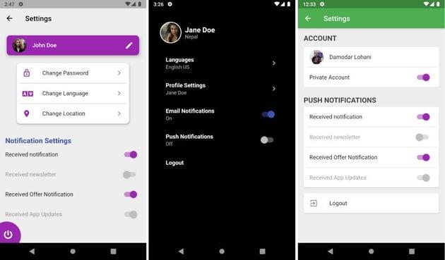 Flutter UI Challenges