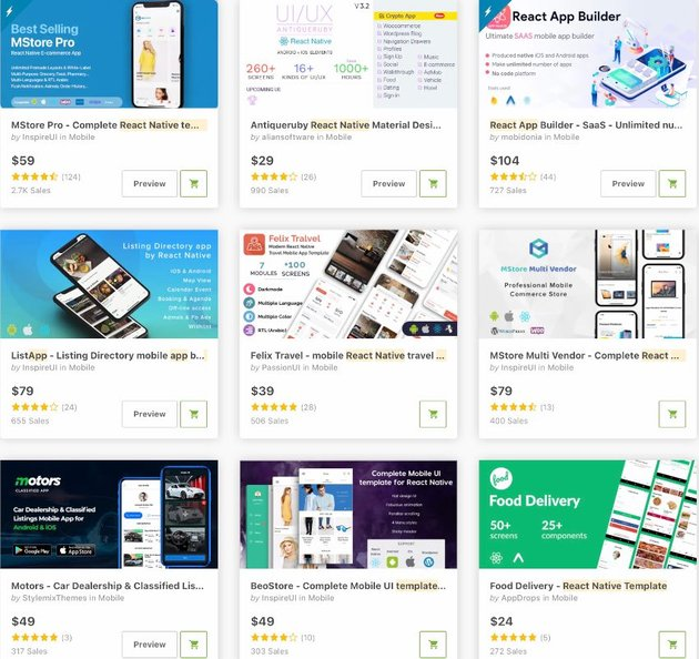 Bestselling React Native App Templates