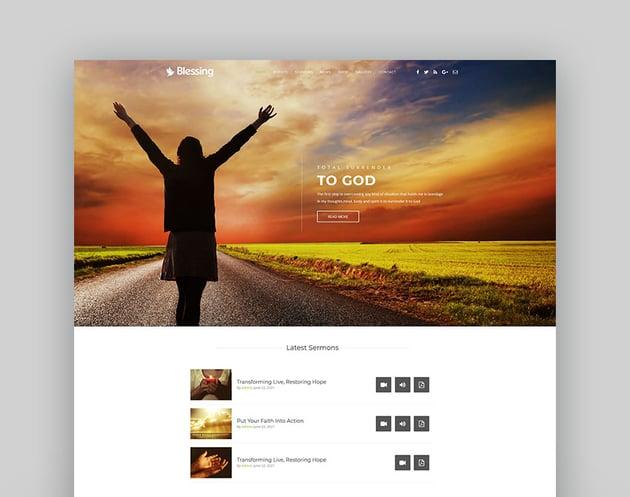 Blessing   Responsive WordPress Theme for Church Websites