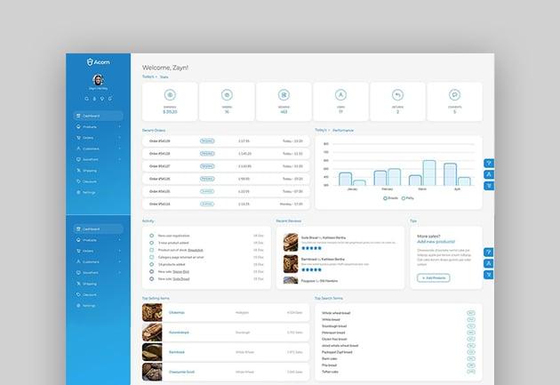 Acorn – Bootstrap 5 Html Laravel .Net5 Admin Template