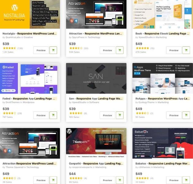 Bestselling WordPress Landing Page Plugins and Templates