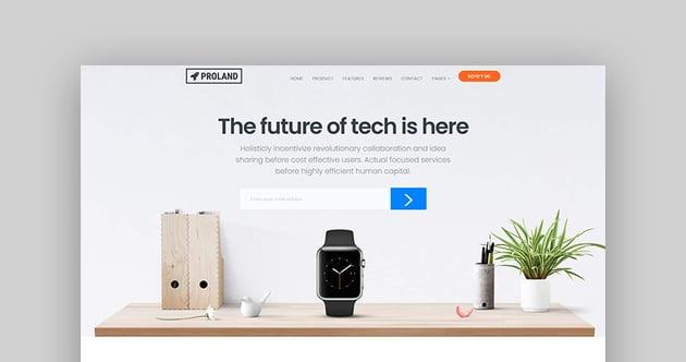 Proland - Single Product Landing Page WordPress Theme