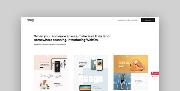 WebOn - Landing Page WordPress Theme