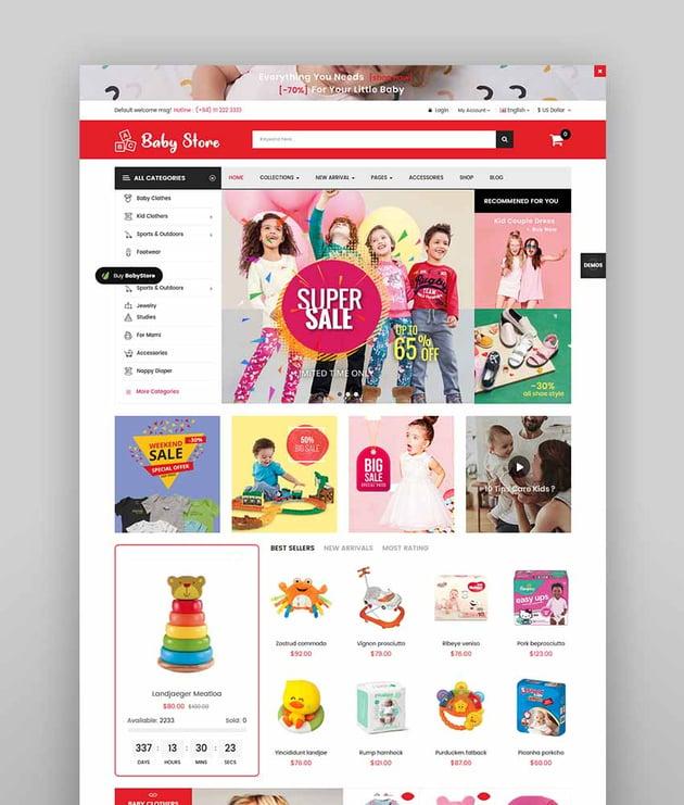 BabyStore - Multipurpose Baby and Kids Store OpenCart 3 Theme