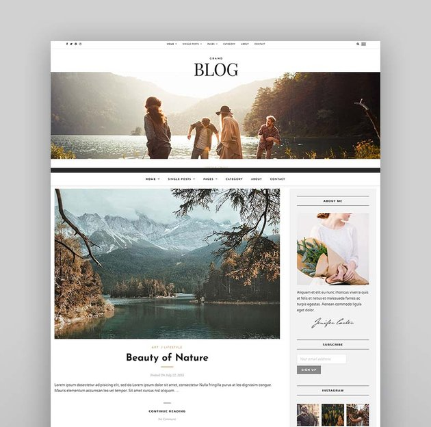Grand Blog HTML Template