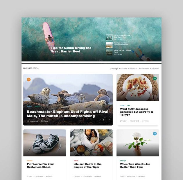 Stories - Personal Blog HTML Template