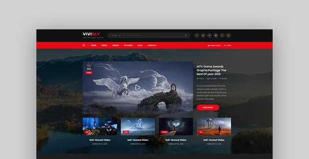 Vividly | Video Blog HTML Template