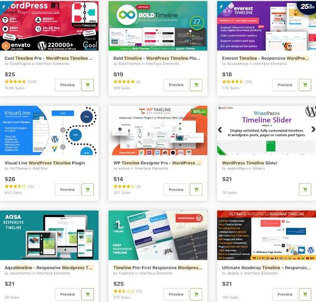 Bestselling WordPress Timeline Plugins on CodeCanyon