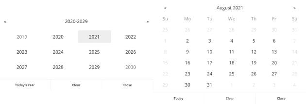 Date Picker In Fullscreen - jQuery Plugin