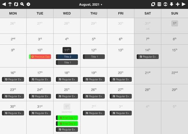 Feature-rich Event Calendar In JavaScript – Calendar.js