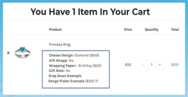 WooCommerce Custom Product Addons, Custom Product Options