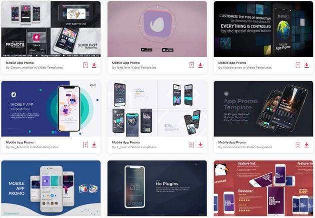 App Promo Videos on Envato Elements