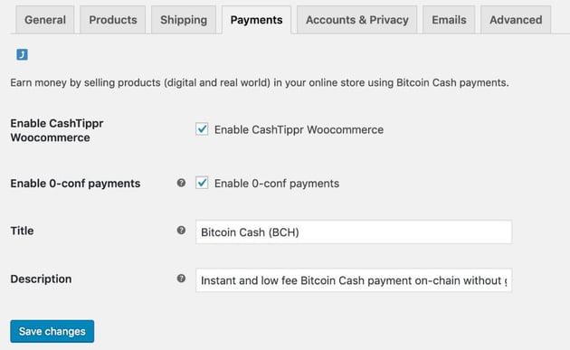 CashTippr Woocommerce Addon
