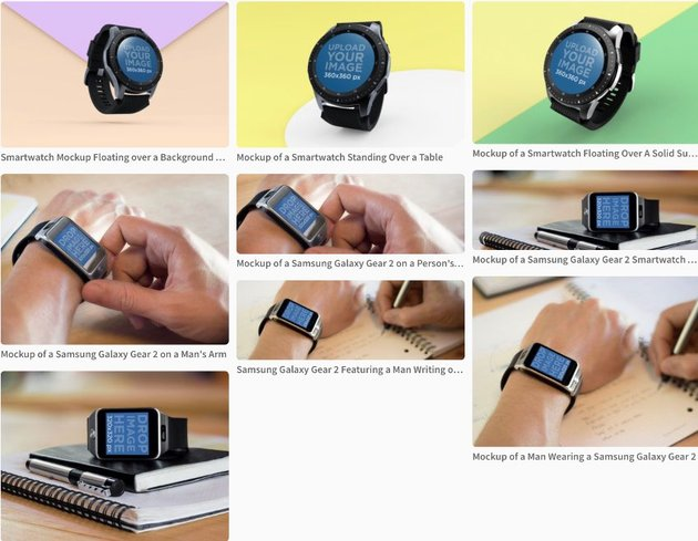 Android Watch Mockup on Placeit