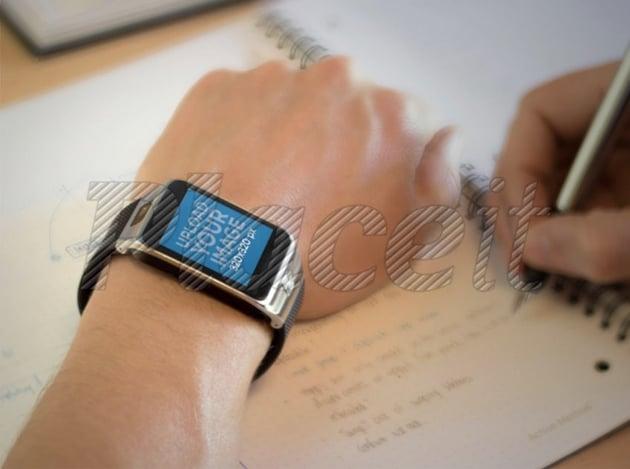 Mockup of a Man Wearing a Samsung Galaxy Gear 2