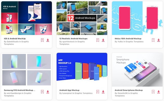 """715 """"android mockup"""" graphic templates on Envato Elements"""