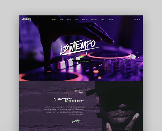 Croma - Music WordPress Theme with Ajax and Continuous Playback
