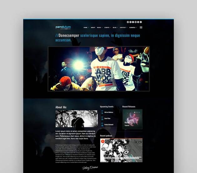 Pendulum - Beat Producers, DJs & Events Theme for WordPress