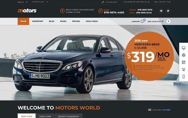 Motors - Car Dealer, Rental & Listing WordPress theme