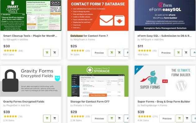 database WordPress plugins.