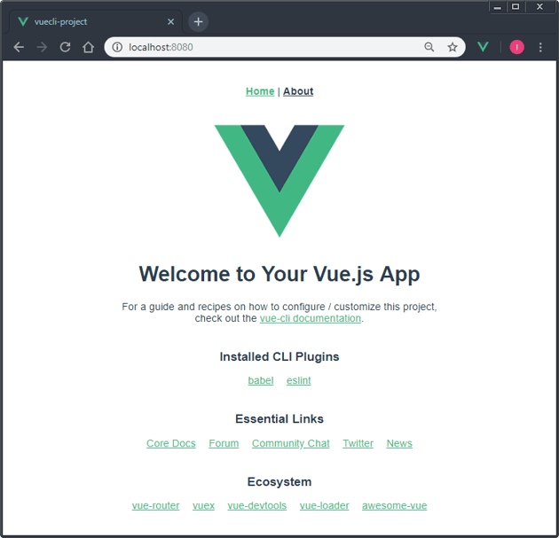 Running the new app