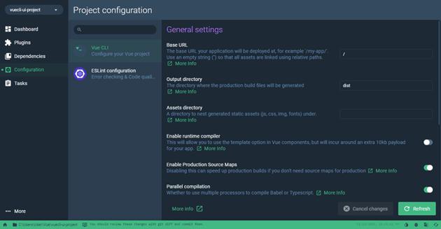 Project Dashboard Plugin settings