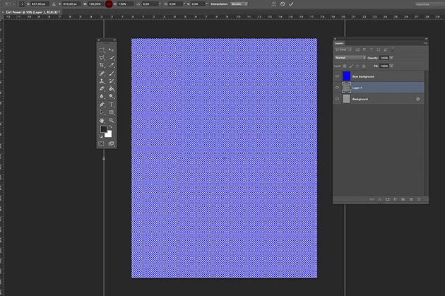 Alter the size of the pattern to create bigger or smaller dots