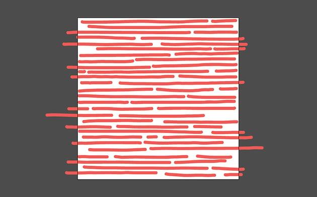Using the Paintbrush Tool draw horizontal lines
