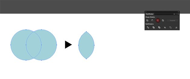 Using the Ellipse Tool create two overlapping circles Intersect using the Pathfinder panel to create a leaf