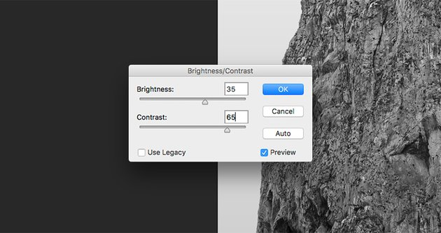 Edit the Brightness and Contrast of the rock layers