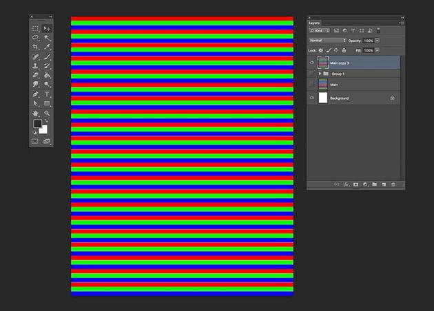 Duplicate the stripes