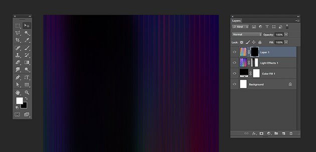 Add a layer mask to the new light streak layer