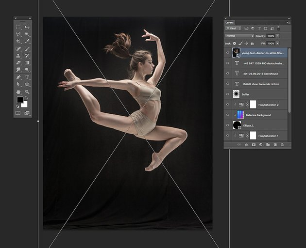 Drag the dancer image onto the Photoshop document