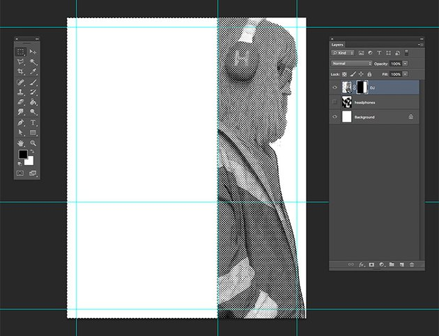 Using Layer masks delete the part of the image we wont be using