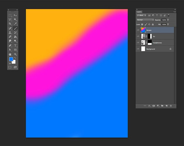 Create a new layer and using the color codes brush over the page
