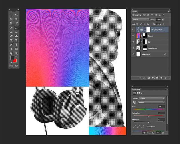 Add a HueSaturation Adjustment layer to tweak colors