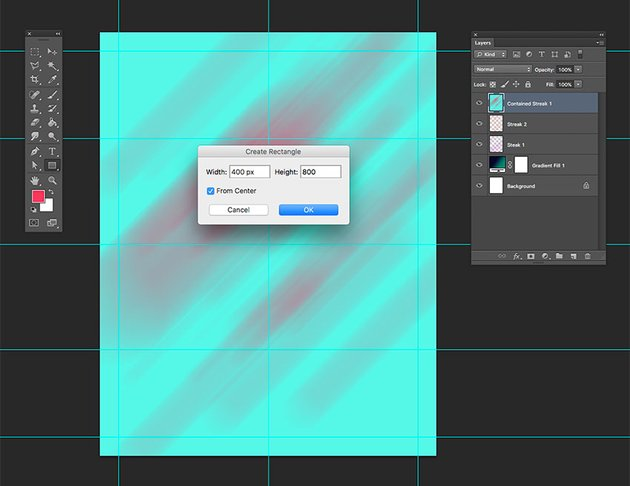 Create a rectangle of 400px by 800px