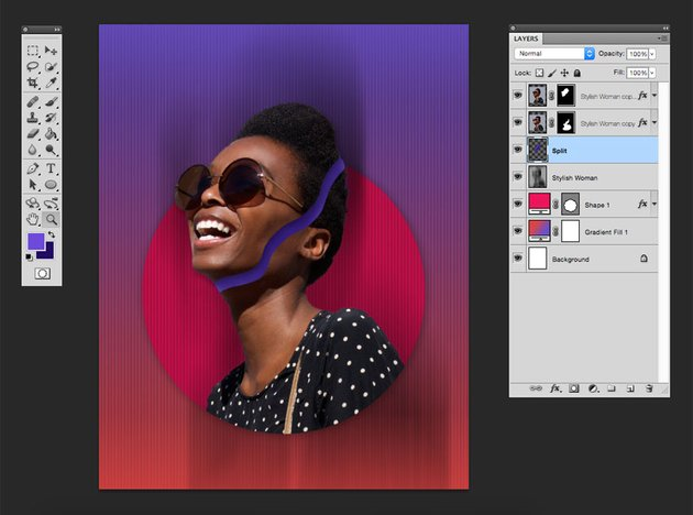 Create a new layer and using the brush tool add a mass to create a sense of depth