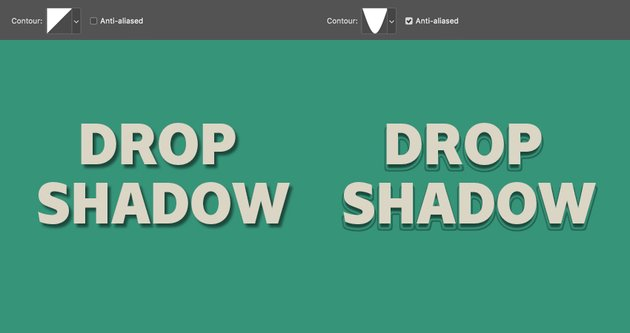 contour determines the shape of the shadow