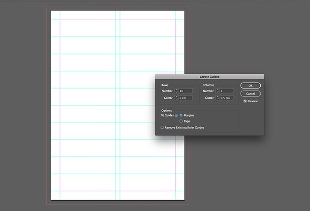 Create guides on the document