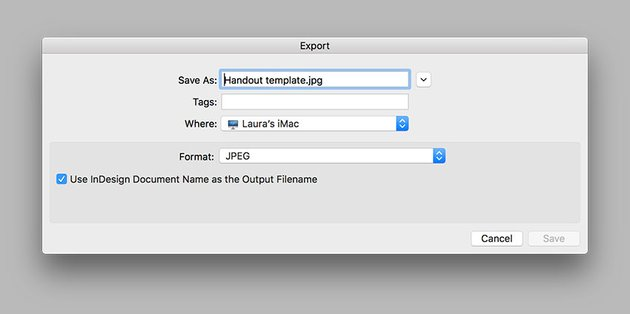 Export as a JPEG for online sharing