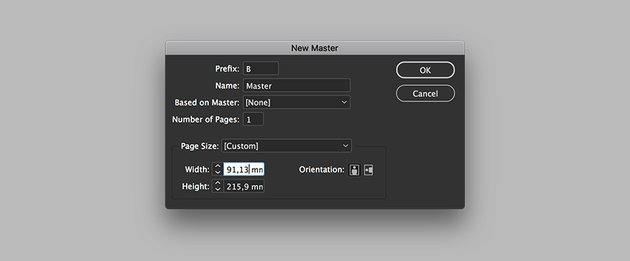 create a new master page with a modified width